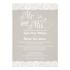 Rustic Lace Wedding Card - wedding invitations cards custom invitation card design marriage party