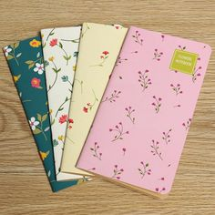 Retro Vintage Fresh Style Flower Floral Kraft Paper Mini Notebook Pockets Size Notepad Diary Memo Office School Stationery Gifts