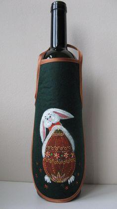 Bottles Apron/ Funny rabbit/ Cravat/ Easter/  by NataBellsShop
