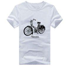 Mens T-shirt T Shirt Top girocollo manica corta da bicicletta casuale Stampa