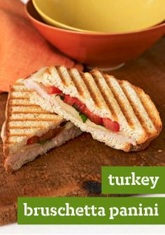Turkey Bruschetta Panini — Here's everything you love about bruschetta, grilled into a tasty turkey panini. If you start now, you can enjoy it in just 10 minutes!