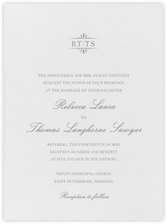 Wedding invitations - online and paper - Paperless Post