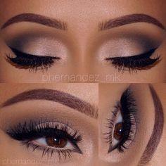 """#EOTN I'm back  @bhcosmetics @makeupbymandy24 Eyeshadow Palette ▫️ @anastasiabeverlyhills #dipbrow in chocolate ▫️ @ardell_lashes in #118 & Wispies…"""