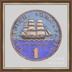 Greek Drachma Framed Print By Grigorios Moraitis
