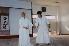 """Masatake Fujita taking ukemi for Aikido Founder Morihei Ueshiba O-Sensei - from the blog post """"Interview with Aikido Shihan Masatake Fujita, Part 1"""": http://www.aikidosangenkai.org/blog/interview-aikido-shihan-masatake-fujita-part-1/"""