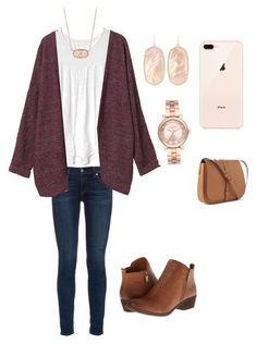"""Set for the winter❄️❄️"" by lizakappil on Polyvore featuring rag & bone, Gap, Monki, Lucky Brand, Kendra Scott and Michael Kors"