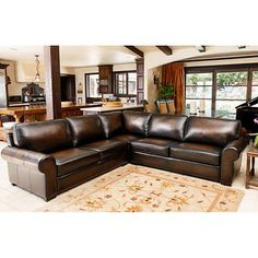 Grains and nahka on pinterest for Andersen leather chaise sectional