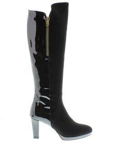 LILIAN schoenen | Lilian laarzen 9945 suede vern. black - online kopen
