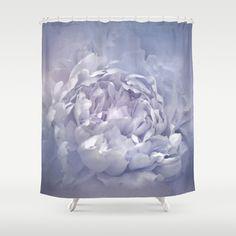 Blushing Lavender Peony - Floral Shower Curtain by Jai Johnson - $68.00