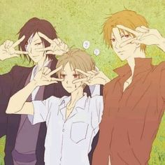 Natsume Yuujinchou <<< Natsume looks so done, and Matoba is enjoying this a bit too much.