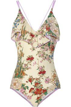 Zimmermann|Stardust floral-print swimsuit|NET-A-PORTER.COM