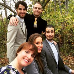 Joey Richter, Lauren Lopez, Darren Criss and Julia Albain
