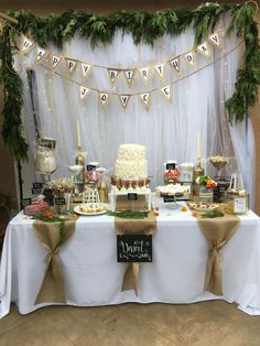Candy Table Anniv 1 N En 2019 D Atilde Copy Coration Anniversaire Fille - Shabby Chic - Rustic Birthday Parties, Elegant Birthday Party, Birthday Party Tables, Birthday Candy, Themed Parties, Rustic Theme Party, Birthday Memes, 90th Birthday, Party Table Decorations