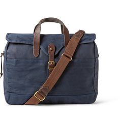 J.Crew Abingdon Waxed Cotton-Canvas and Leather Laptop Bag | MR PORTER