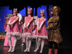 I kind of like this look... wonder if they costume shop can do this?  3 blind mice shrek the musical - Google Search