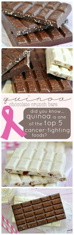 Toasted Quinoa Chocolate Crunch Bars... Quinoa is a popular superfood, and now you can eat it in your chocolate!   www.somethingswanky.com