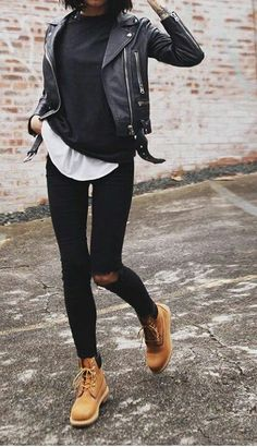 Best Leather Jackets To Shop in The Simple Moto. Classic Black Moto Jacket, the best leather jacket to wear for fall leather jacket outfit black, leather jacket women, Best Leather Jackets for Women 2019 Black Leather Jacket Outfit, Jean Jacket Outfits, Black Jeans Outfit, Jacket Jeans, Black Vest, Women's Jeans, Jeans Outfit Winter, Fall Jeans, Summer Outfit