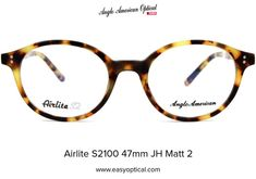 Airlite S2100 47mm JH Matt 2 Round Eyeglasses, Sunglasses, American, Sunnies, Shades, Eyeglasses, Glasses