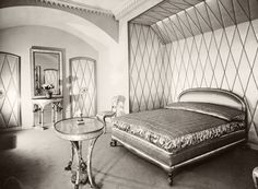 "Helena Rubinstein's Paris apartment circa 1940s...how ""moderne""...!"