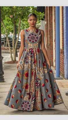 Ankara Styles by Mawuli Ankara Maxi Dress, African Maxi Dresses, African Wedding Dress, African Dresses For Women, African Attire, African Wear, African Women, African Inspired Fashion, African Print Fashion