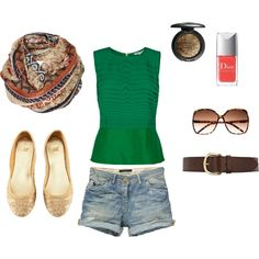 green / brown, created by syd-spektor on Polyvore