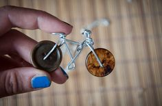 Necklace with sweet wire & buttons bicycle by SilviaWithLove, €10.00