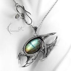 NEVITHNAR DRACO - silver and labradorite by LUNARIEEN.deviantart.com on @deviantART