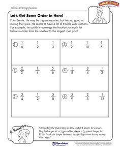 math worksheet : ordering fractions worksheets arrange the fractions in either  : Ordering Fractions And Decimals From Least To Greatest Worksheet