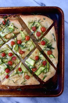 Summer Flatbread with Zucchini and Tomatoes | Healthy Aperture
