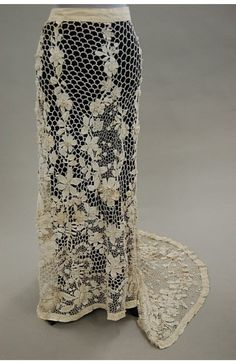 Beautiful 1910 crochet skirt