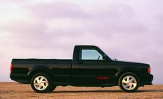 1991-1993 GMC Syclone. Only 2991 where produced. The Syclone was the fastest stock pick-up truck produced at it's time. It featured a 280 Horsepower turbocharged 4.3 V6 and all-wheel drive along with stand out styling that set it apart from any other pick-up built at it's time.