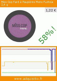 Miss Cop Fard à Paupières Mono Fuchsia 2,4 g (Beauté et hygiène). Réduction de 58%! Prix actuel 1,22 €, l'ancien prix était de 2,90 €. https://www.adquisitio.fr/autres/fard-paupi%C3%A8res-mono-miss-7