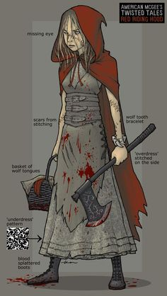 American McGee's Twisted Tales Red Riding Hood<--- Would love to cosplay like this.