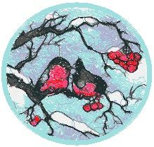 Advanced Embroidery Designs - Bullfinches