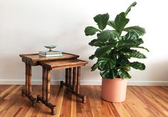 A personal favorite from my Etsy shop https://www.etsy.com/listing/293518439/vintage-drexel-heritage-nesting-tables
