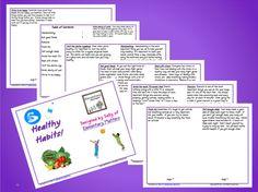Healthy Habits Booklet for Illustrating $ www.greennutrilabs.com