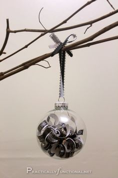 DIY Wedding Invitation Ornaments- I'm going to do one with our Save-the-Dates and Engagement Party Thank You! :-)