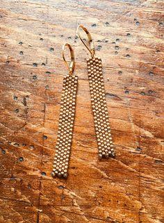 Beaded bronze earrings bronze seed bead earrings bronze Seed Bead Earrings, Beaded Earrings, Seed Beads, Beaded Jewelry, Drop Earrings, Seed Bead Bracelets, Metallic Blue, Bead Weaving, Bronze
