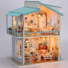 DIY cradle chair | Doll House DIY Miniature Cradle On The Beach 3D