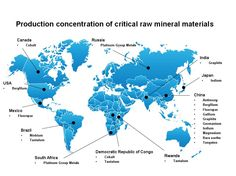 Global Production Sources of Raw Materials Critical to EU