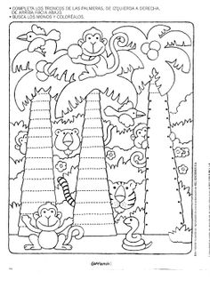 Crafts,Actvities and Worksheets for Preschool,Toddler and Kindergarten.Lots of worksheets and coloring pages. Kids Art Class, Art For Kids, Le Zoo, Pre Writing, Jungle Animals, Colouring Pages, Coloring For Kids, In Kindergarten, Pre School