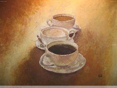 Rosa Cánovas.  España. La hora del café. Pintura.