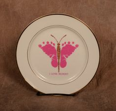 Create a Unique Keepsake of your Childs Footprints, Handprints, or Photo! These keepsake ceramic plates are ideal for memorializing