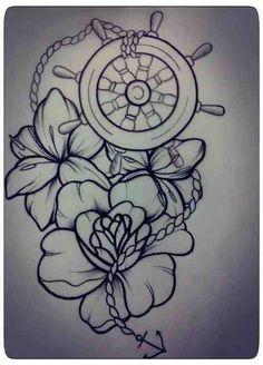 Nautical & Flower Sketch