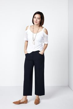 This wide leg crop pant is perfect for the season! You'll love the classic styling that comes with the Every Body pant and as well as the versatility that comes wit Wide Leg Cropped Pants, Legs, Navy, Fashion, Moda, La Mode, Fasion, Fashion Models, Trendy Fashion
