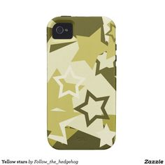 Yellow stars Case-Mate iPhone 4 cover