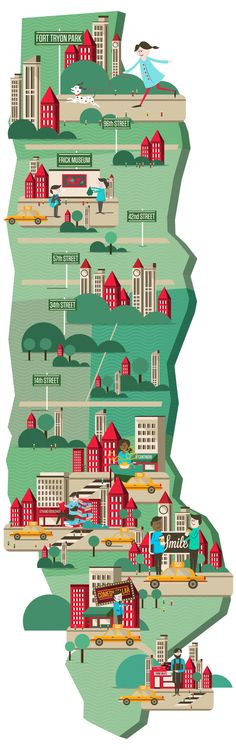 Hollywood Reporter / Manhattan Map by Neil Stevens, via Behance