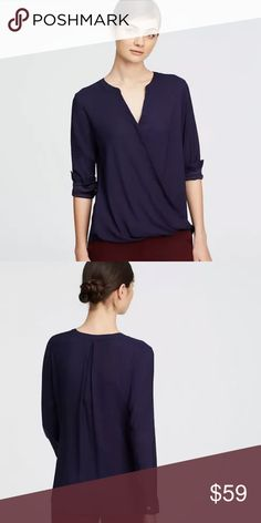 NWT ANN TAYLOR XXSP WRAP TOP (runs big like an XS) New with tags !!! So flattering!!! Ann Taylor Tops Blouses