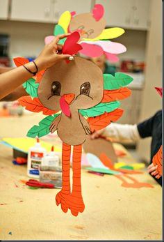 Today we made turkeys with leaf print tail feathers. The kids REALLY had fun! Thanksgiving Arts And Crafts, Thanksgiving Crafts For Kids, Fall Crafts, Holiday Crafts, Craft Activities, Preschool Crafts, Kids Crafts, Classroom Crafts, Diy Arts And Crafts