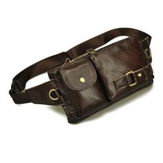 Vintage bolsas couro genuine leather fanny pack Fashion man small travel sports waist wallet bags for men Free shipping